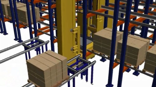 Système de stockage par accumulation Pallet Shuttle