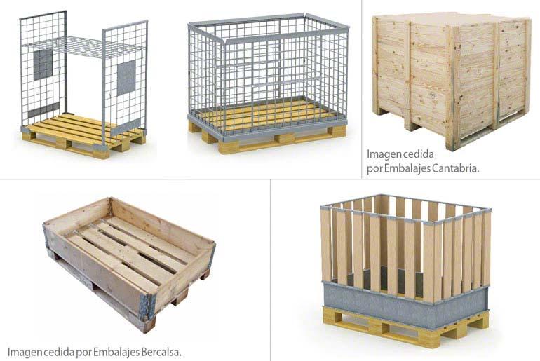 Exemples de caisses palettes en bois