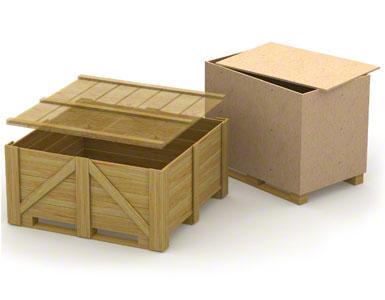 Les semelles des caisses en bois peuvent être fragiles et peu résistantes car ces supports sont en général à usage unique (un seul envoi, pas de retour).