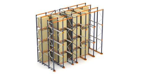 Rayonnages compacts : le système de stockage de palettes par accumulation