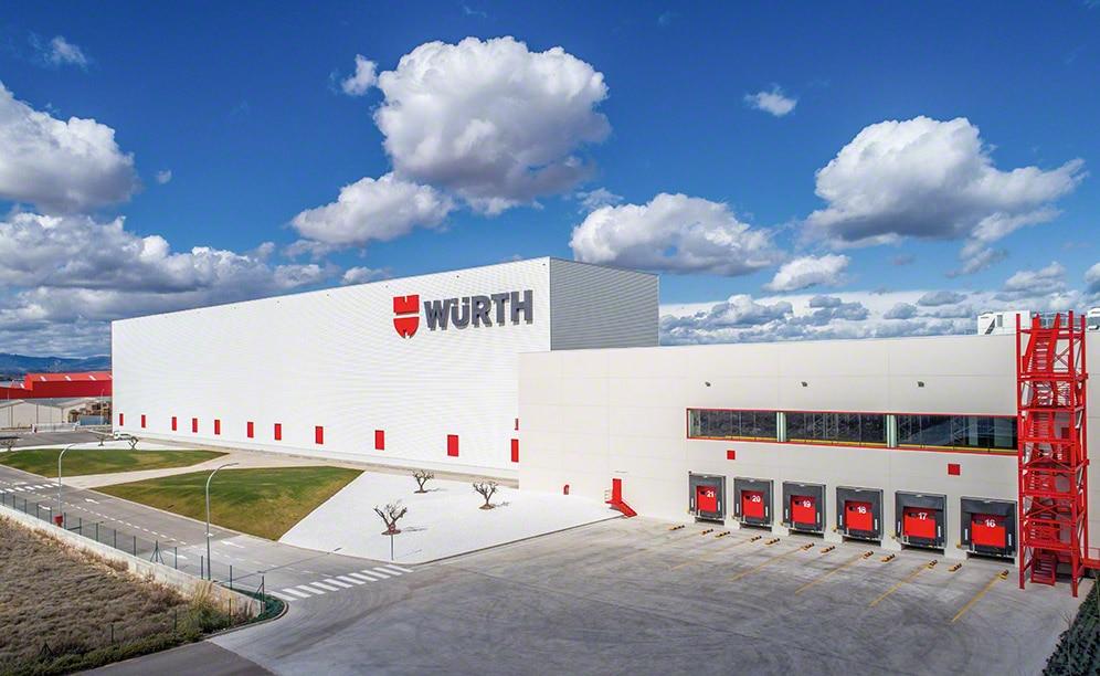 Cas pratique entrepôt autoportant : Würth Espagne